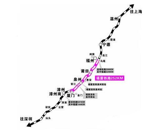 福厦高铁将提前至今年内开工 线路将延伸至漳州